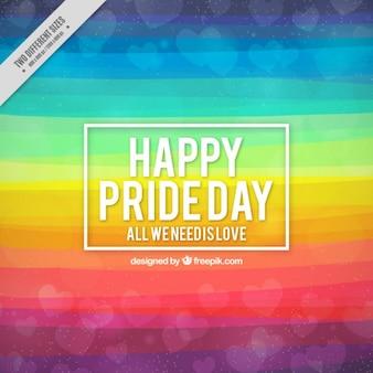 Astratto di giornata dell'orgoglio con strisce colorate