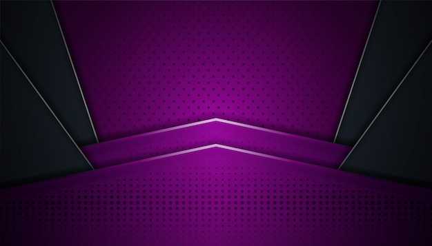 Astratto dinamico con design futuristico e sfondo stile 3d