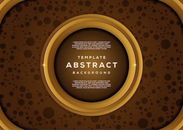 Astratto dinamico strutturato con lo stile 3d del lussuoso sfondo geometrico oro