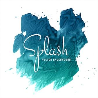 Astratto disegnato a mano blu acquerello splash sfondo