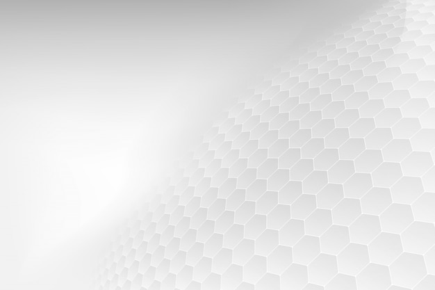 Astratto. esagono goffrato, sfondo bianco a nido d'ape.