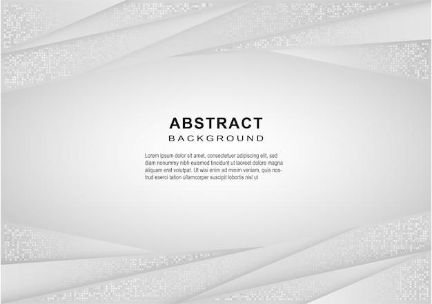 Astratto geometrico bianco e grigio linea curva gradiente di sfondo.