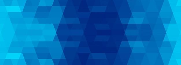 Astratto geometrico blu banner