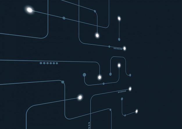 Astratto geometrico collegare linee e punti di sfondo