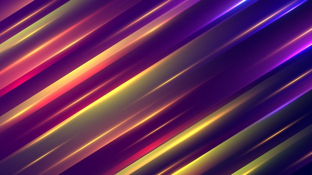 Astratto geometrico con stile al neon.