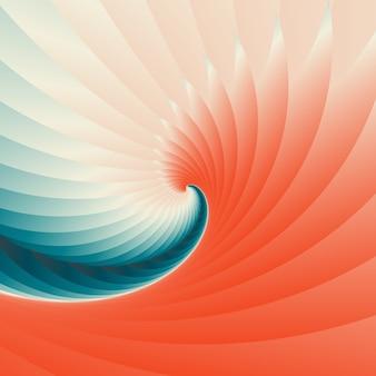 Astratto geometrico concentrico ricciolo sfondo