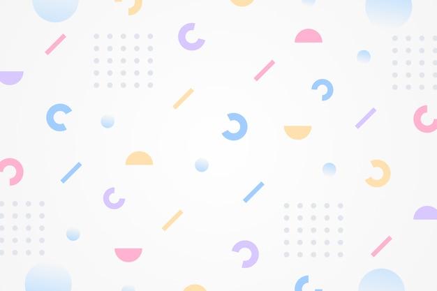 Astratto geometrico di forma e punto multicolor