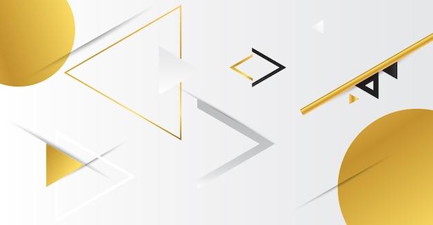 Astratto geometrico oro con triangoli.