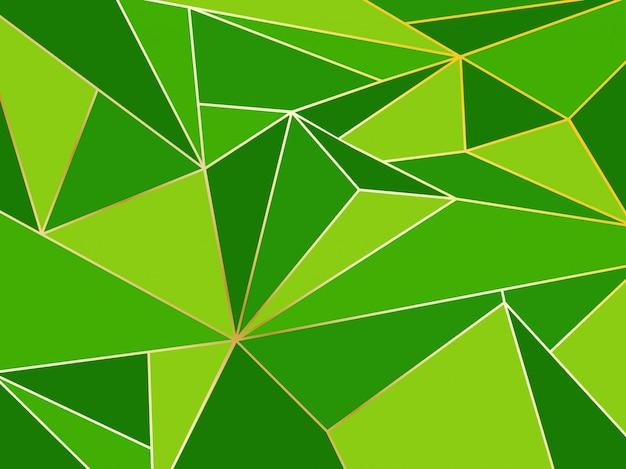 Astratto geometrico poligono verde artistico