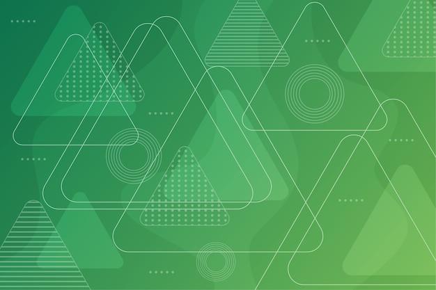 Astratto geometrico verde