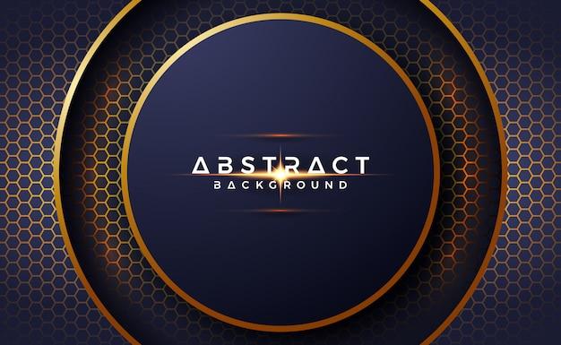 Astratto, lussuoso, sfondo del cerchio 3d con forma esagonale.