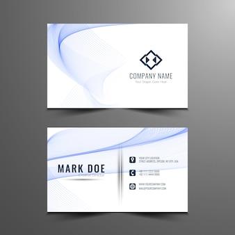 Astratto moderna ondulata business card design