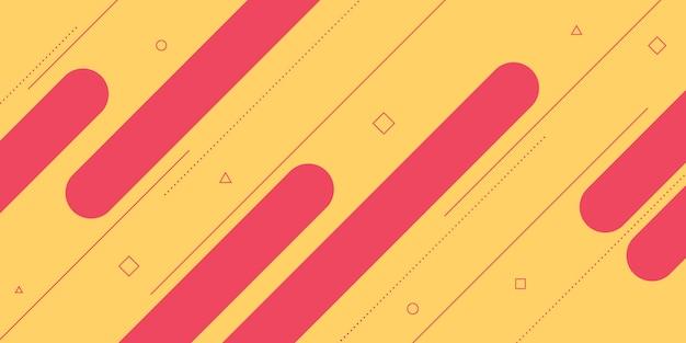 Astratto moderno con elementi di linee diagonali, memphis e colorato.