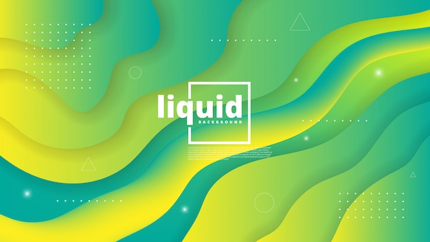 Astratto moderno con elemento onda, fluido e liquido