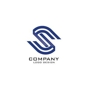 Astratto moderno lettera s logo design company