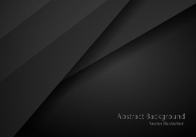 Astratto nero con modello cornice scura