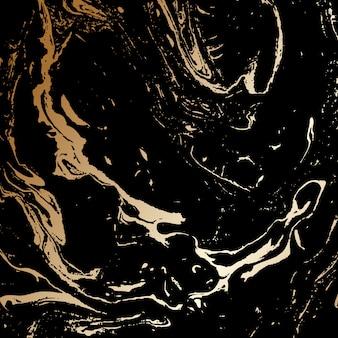 Astratto nero e oro tessitura