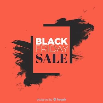 Astratto nero vendita venerdì sfondo in nero e rosso