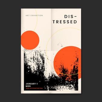 Astratto poster design in difficoltà