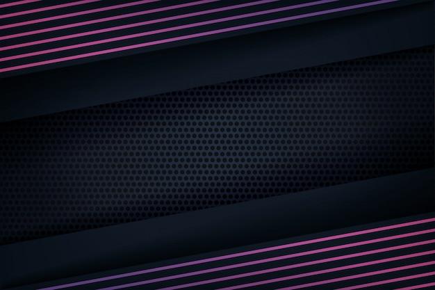 Astratto sfondo 3d con linee viola