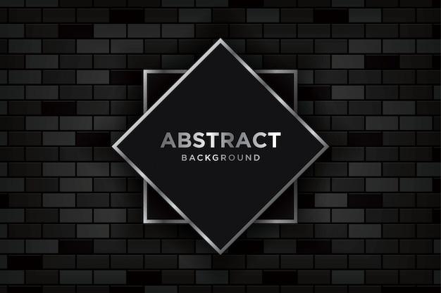 Astratto sfondo 3d con realistici brickwalls scuri