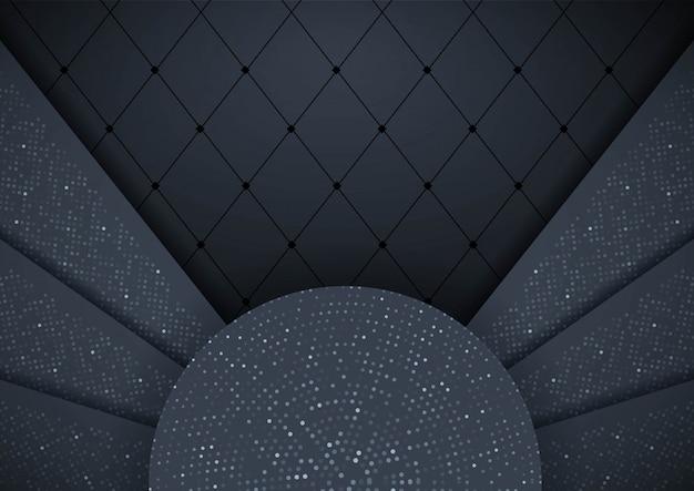 Astratto sfondo 3d con strati di carta nera elemento di design grafico