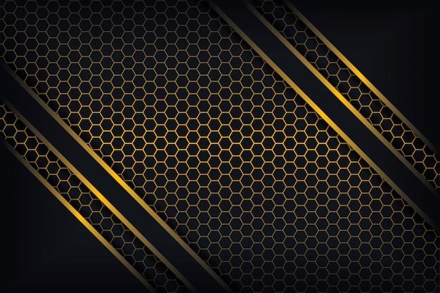 Astratto sfondo 3d con una combinazione di poligoni luminosi in stile 3d.