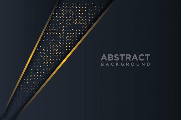 Astratto sfondo 3d con una combinazione di punti luminosi in stile 3d.