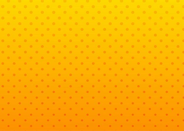Astratto sfondo arancione e giallo punteggiato.