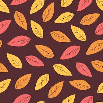 Astratto sfondo autunnale con foglie.