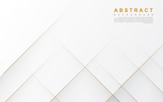 Astratto sfondo bianco con linea oro