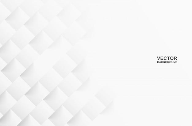 Astratto. sfondo bianco quadrato geometrico, luce e ombra.