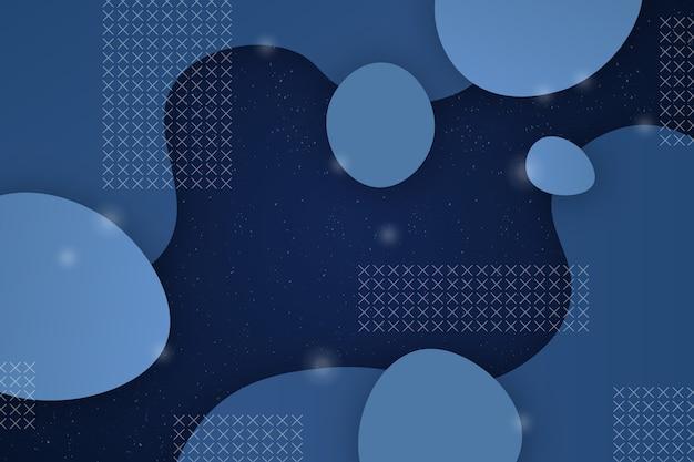 Astratto sfondo blu classico con forme