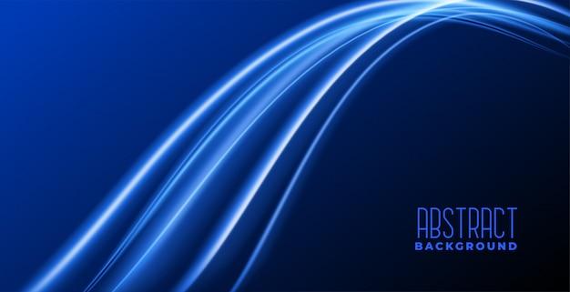 Astratto sfondo blu con onda luminosa incandescente
