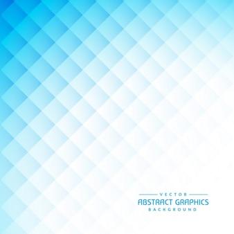 Astratto sfondo blu pulito con forme di diamante