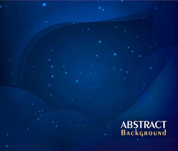 Astratto sfondo blu scuro con particelle blu