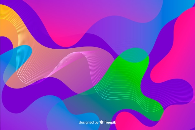 Astratto sfondo colorato che scorre forme