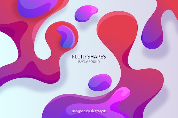 Astratto sfondo di forme fluide