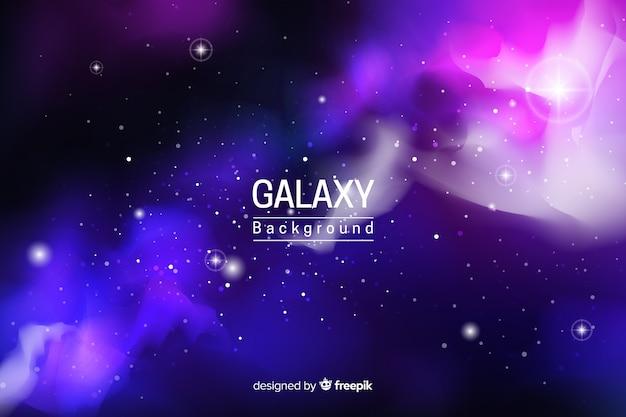 Astratto sfondo di galassia al neon