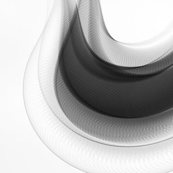 Astratto sfondo dinamico, futuristico illustrazione ondulata