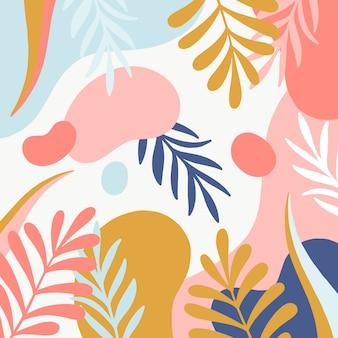Astratto sfondo floreale in design piatto