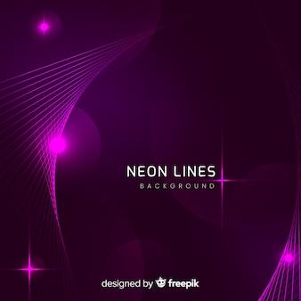 Astratto sfondo futuristico al neon