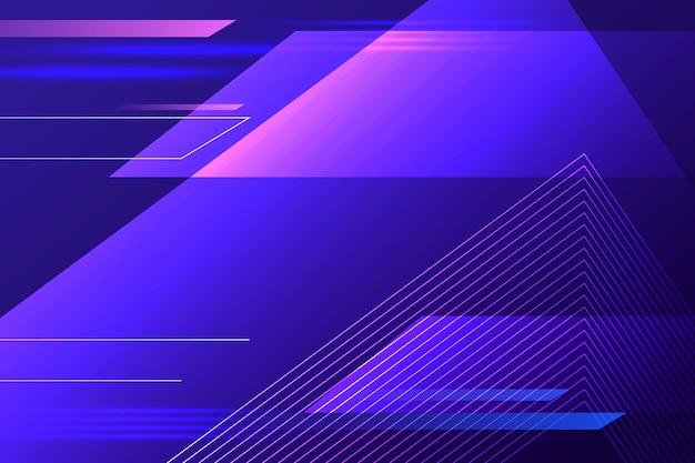 Astratto sfondo futuristico con linee di velocità