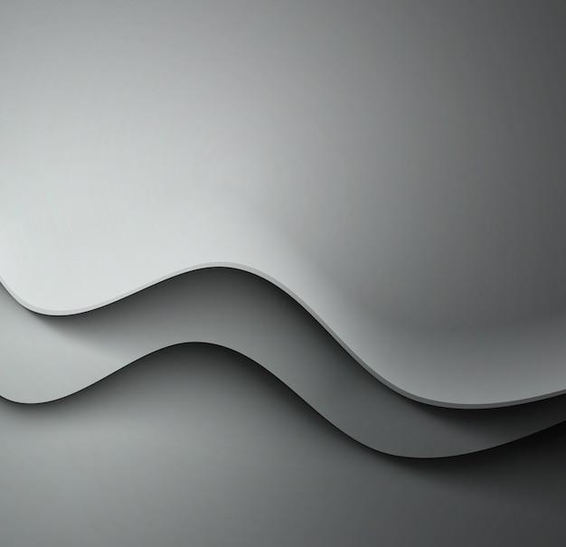 Astratto sfondo grigio ondulato