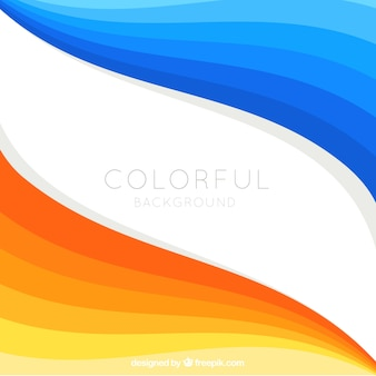 Astratto sfondo in blu e arancione