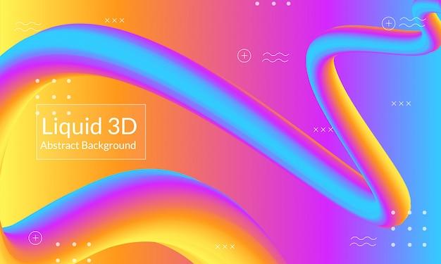 Astratto sfondo liquido 3d