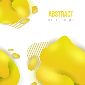 Astratto sfondo liquido giallo