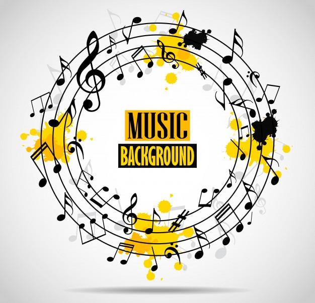 Astratto sfondo musicale con note