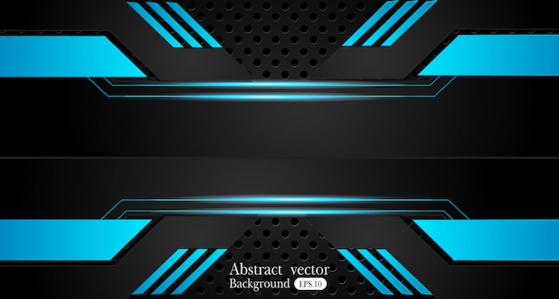 Astratto sfondo nero blu metallico