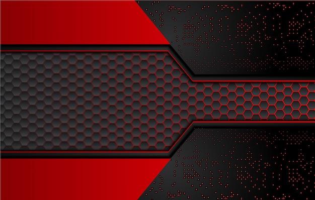 Astratto sfondo nero e rosso